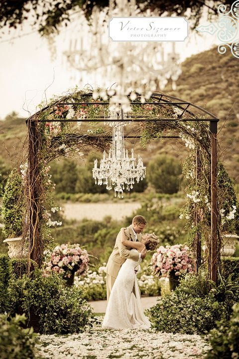 The Beautiful Arch With A Hanging Crystal Chandelier If This Isn T Ideal For Fairytale Wedding I M Not Sure What Is