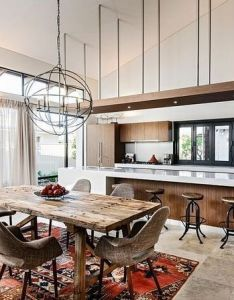 In  new home designer jodie cooper took the concept of dramatic lighting to heights using custom made  cbulkhead   suspended from ceiling by also extravagant dining room tendencies for your future get rh pinterest