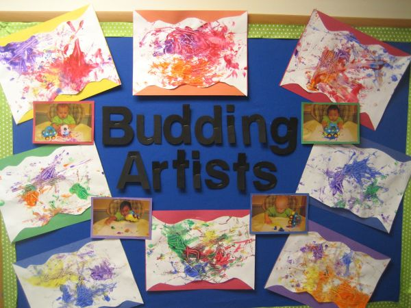 Small Babies Create Art Worth Showing Display Board Proves