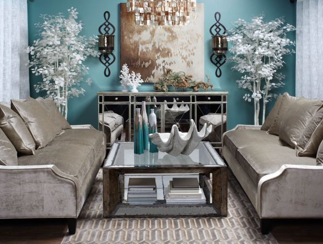 Calming Coastal Chic Living Room Inspired By Tranquil Spa Colors