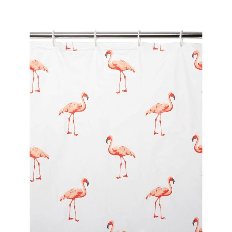 Flamingo shower curtain asda for Fenicottero arredamento