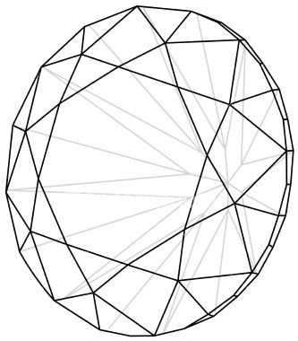 3D Diamond Wireframe A Cool Jewel Vector Format