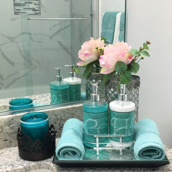 Teal And Grey Bathroom Decor