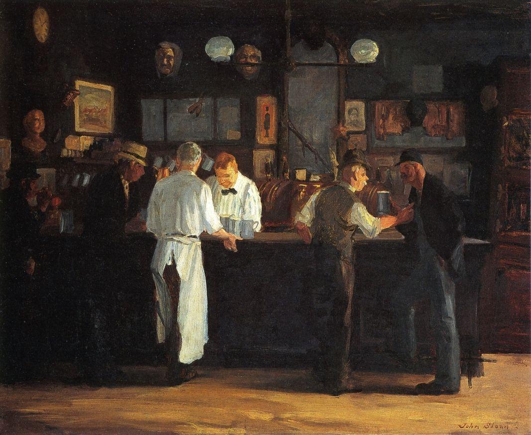 McSorley's Bar John Sloan Paintings I Love Pinterest