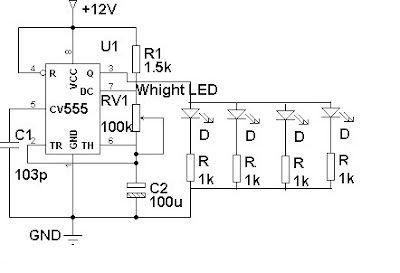Circuito Pisca-pisca de LED para Automóveis e Motos