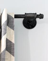 DIY Oil rubbed bronze galvanized pipe curtain rod | DIY ...