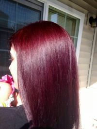 Dark cherry red hair | hairstyles | Pinterest | Cherry red ...