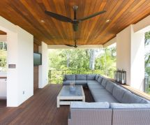 Patio Ceiling Design Contemporary With Wood Roof