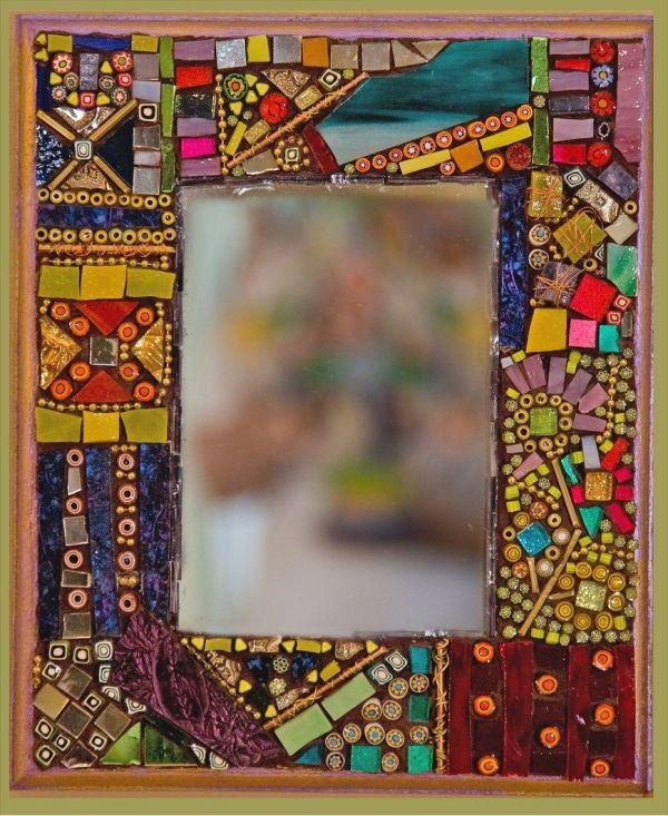 Handmade Mosaic And Dichroic Glass Art Jewelry