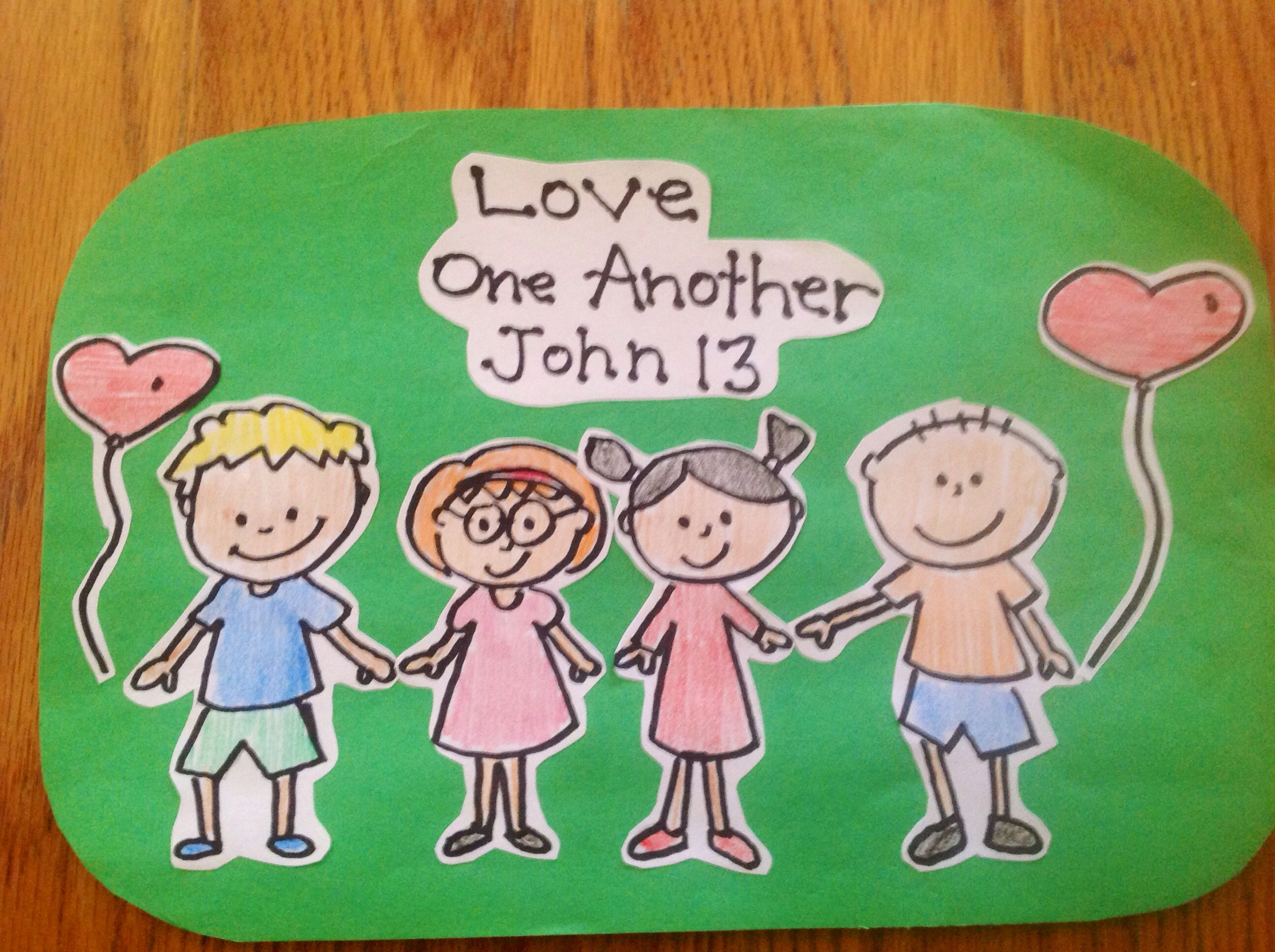 Love One Another Bible Craft By Let