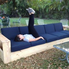Diy Patio Sofa Plans Clearance Sofas Uk I Built A Very Long Outdoor Out Of Wood First