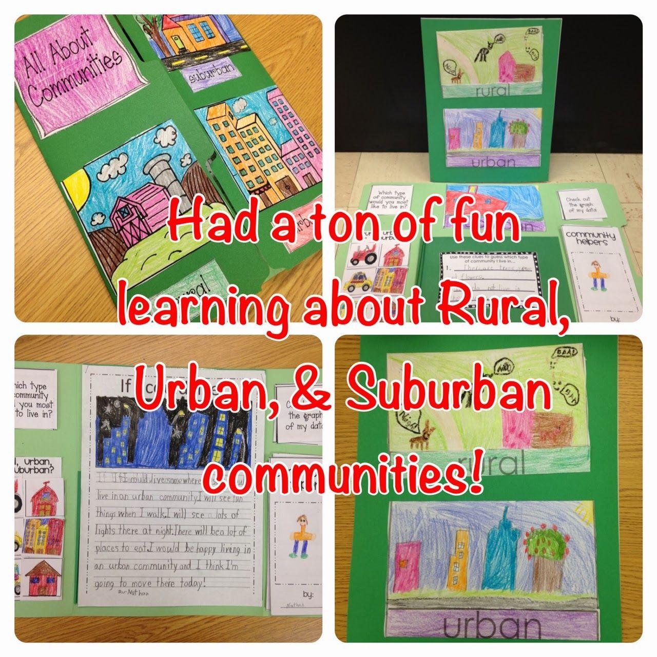 Rural Urban And Suburban Communities Fun