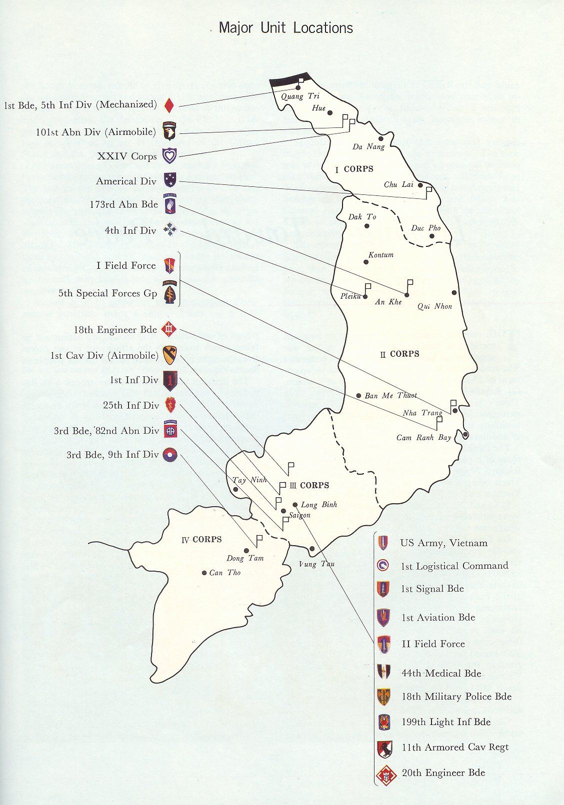 Map Military Of Vietnam