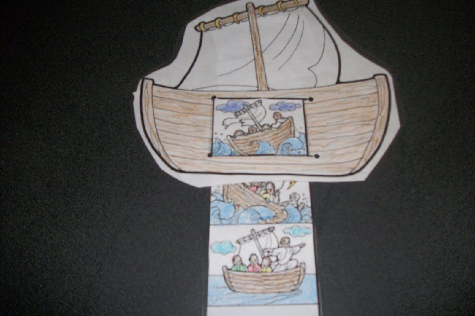 Jesus Calms The Storm Printable Craft