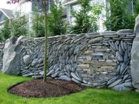 retaining wall ideas | ... great option for a front entry ...
