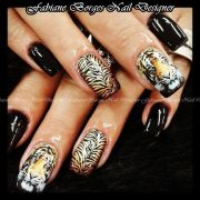 tiger nail art ideas