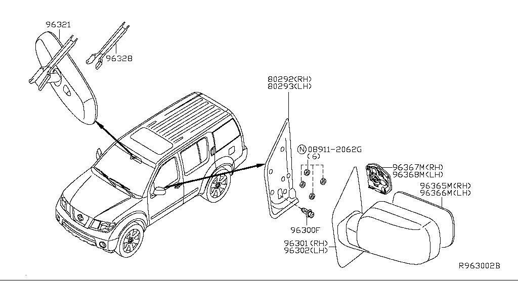 1997 Nissan Pathfinder Hatch Sensor Parts Diagram. Nissan