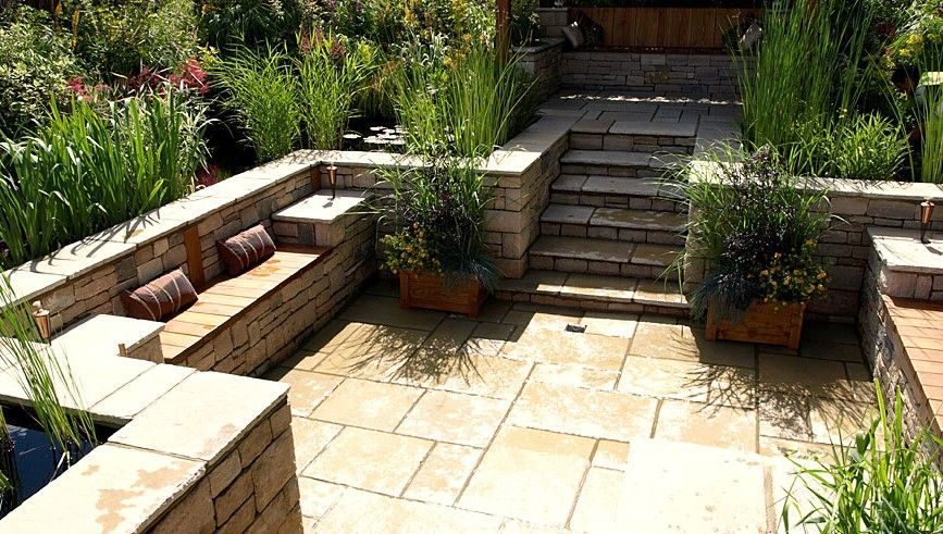 Small Backyard Italian Designed Patio Garden Designer