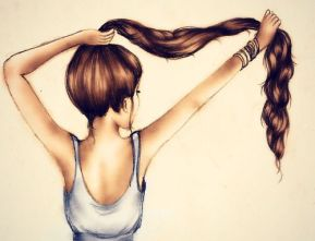 Afbeeldingsresultaat voor beautiful hair drawing