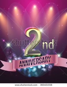 nd anniversary party poster invitation background glowing element vector illustration also rh gr pinterest