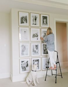 Gold frame wall in bedroom to accent nightstands also gallery home decor pinterest empty and stage rh