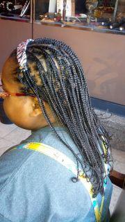 box braids with natural hair