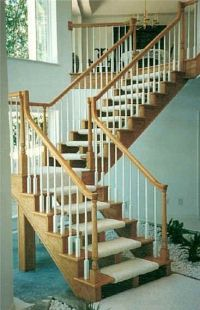 Idea for safety on open staircase plan - carpet wrapped ...
