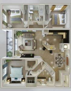 Apartment layout bedroom sims house layouts dream plans guest houses small mixer blueprints also pin by betty rosales on planos pinterest and rh