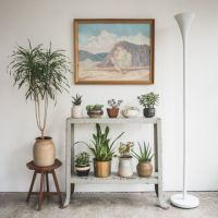 table becomes plant stand | apartment decorating ideas ...