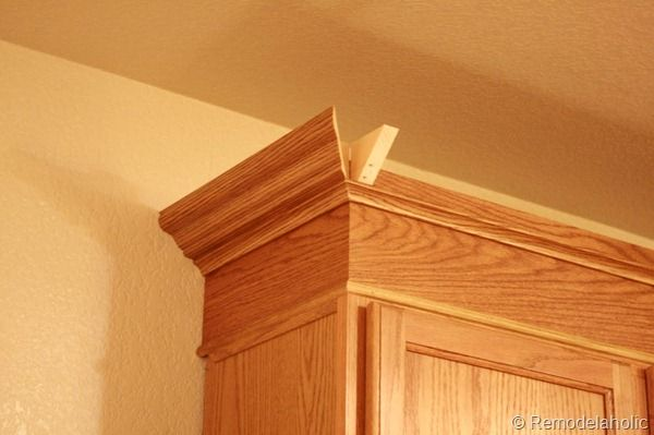 Update Builder Grade Cabinets Fast Without Painting  Oak