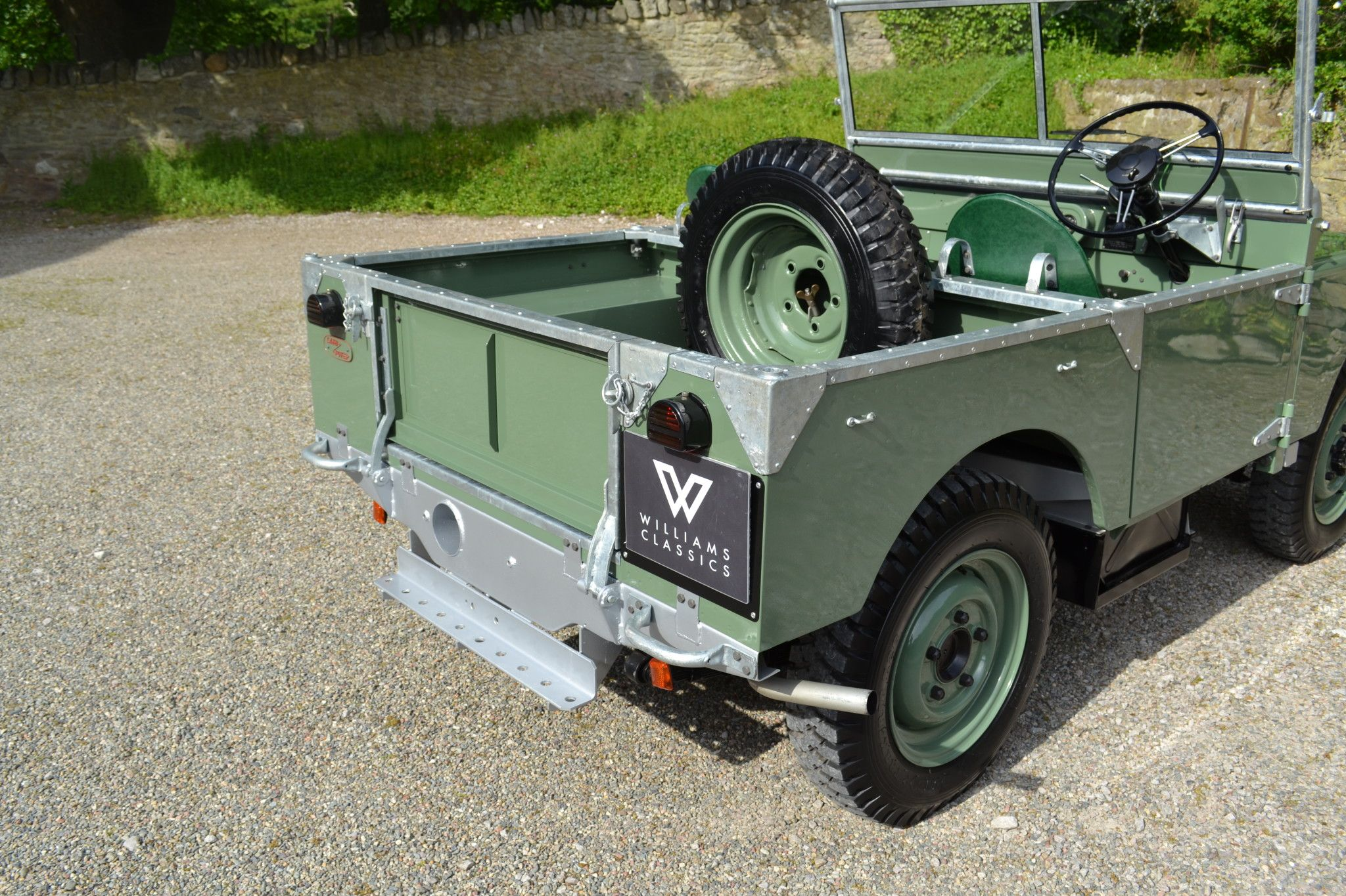 """Land Rover Series 1 80"""" 1948 MY Silver Chassis Ken Wheelwright"""