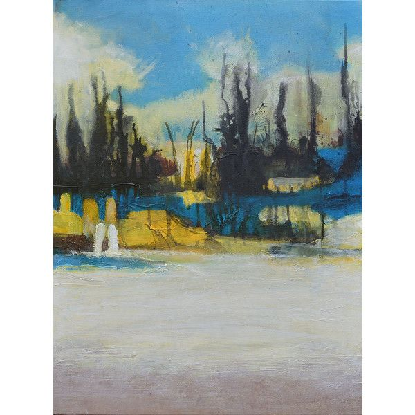 Abstract painting contemporary yellow blue neutral modern fine art on bam also rh pinterest
