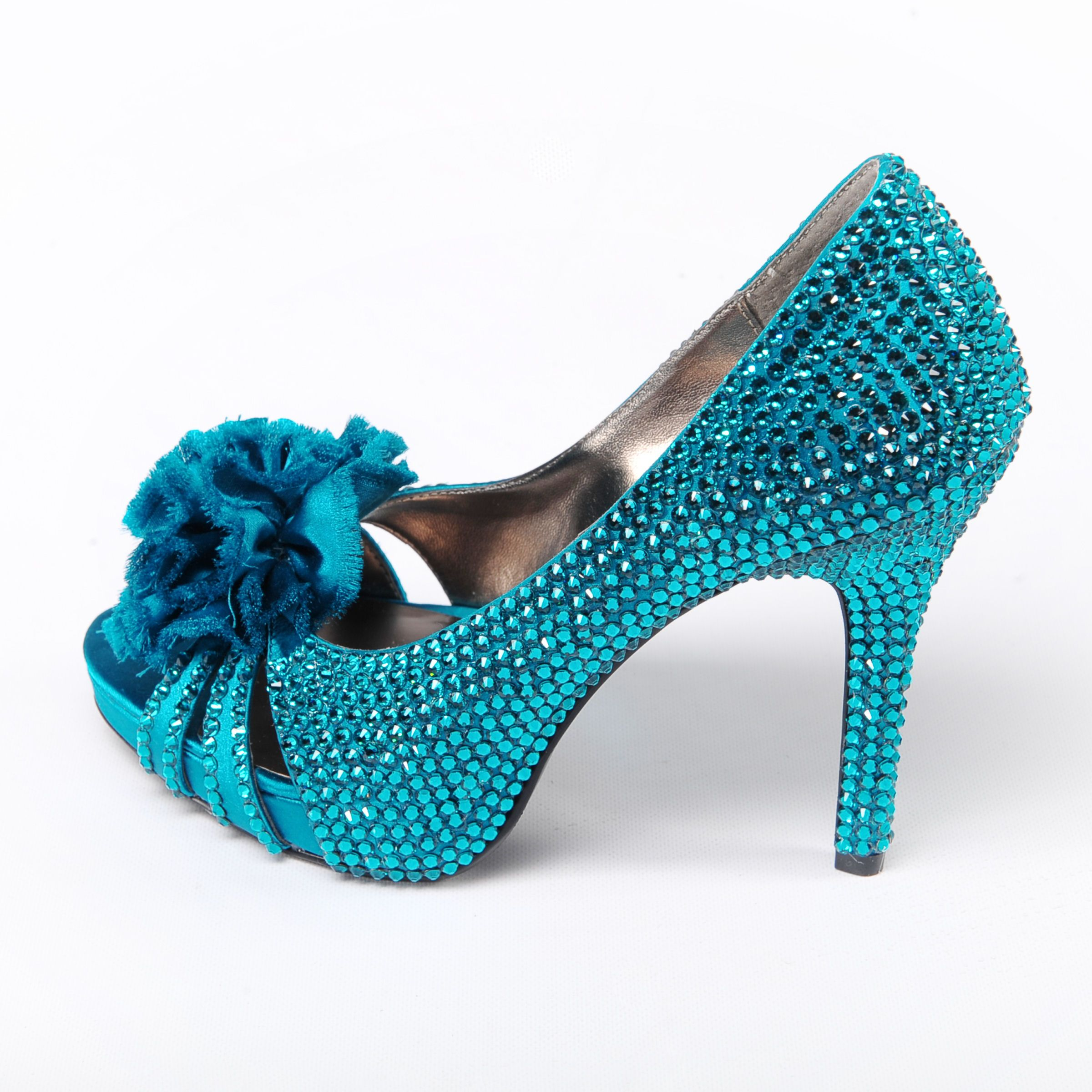 sparkly turquoise heels  Shoes  Pinterest  Turquoise