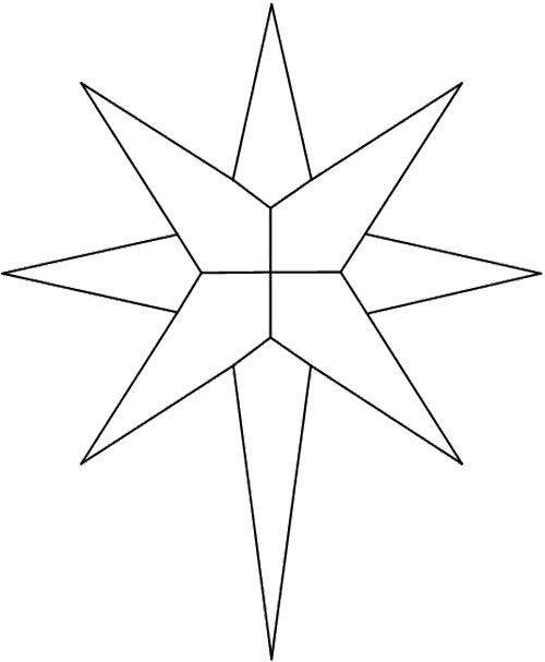 Christmas Star Stained Glass Patterns Coloring Page