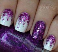 30+ Chosen Purple Nail Art Designs | Matte white nails ...