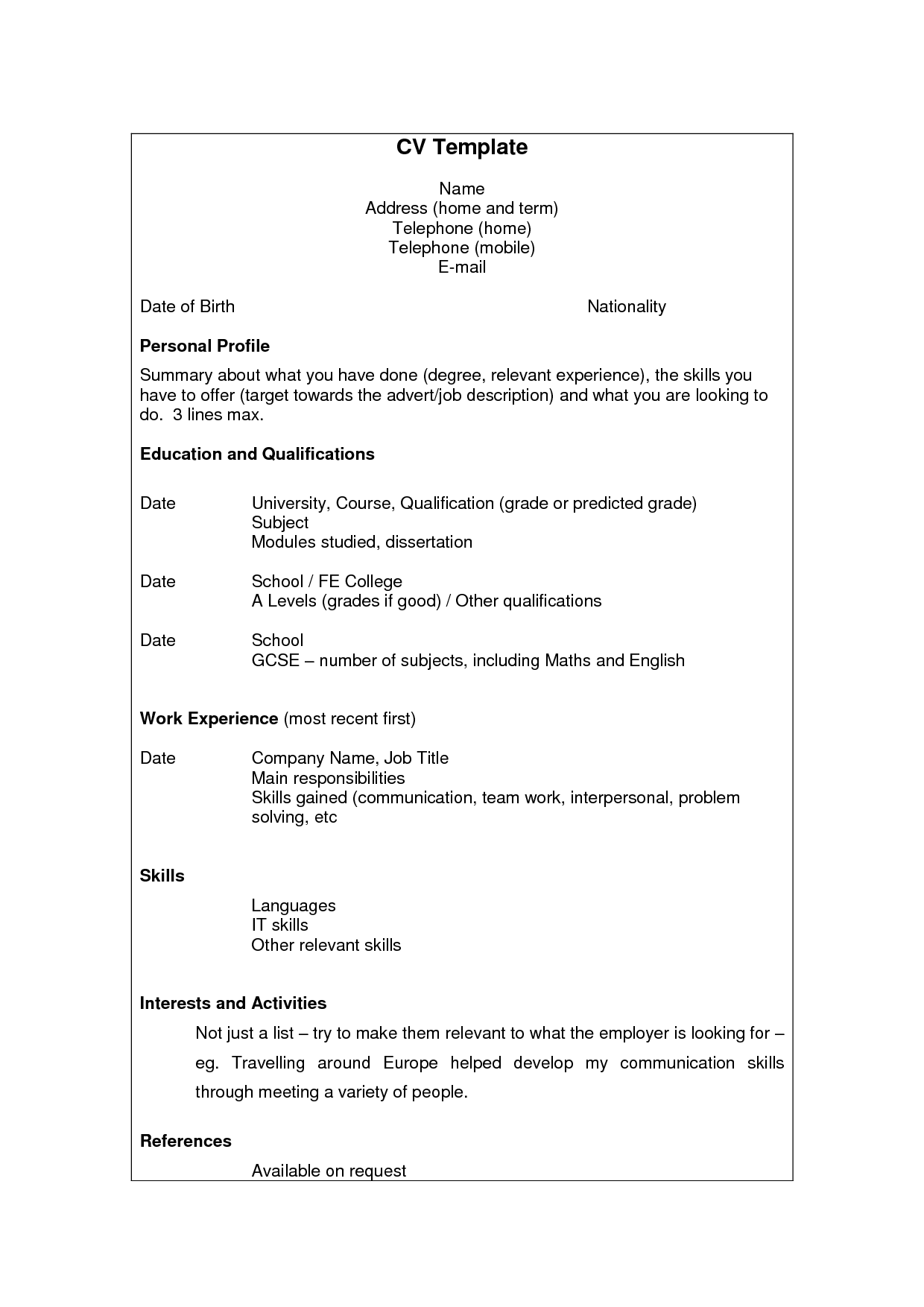 Good Resume Skills Examples Examples Of Resumes