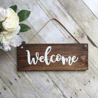 Welcome Sign For Front Door - Wreath Sign - Outdoor Sign ...