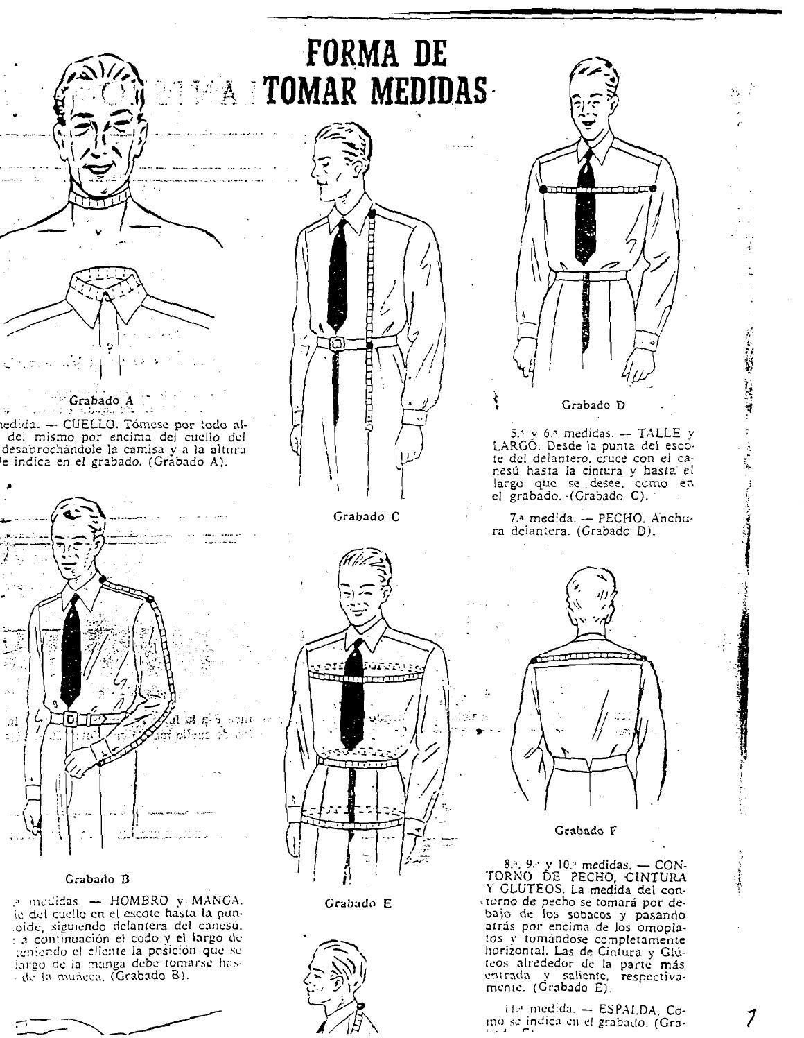 Manual de sastreria masculina forma de tomar medidas(1