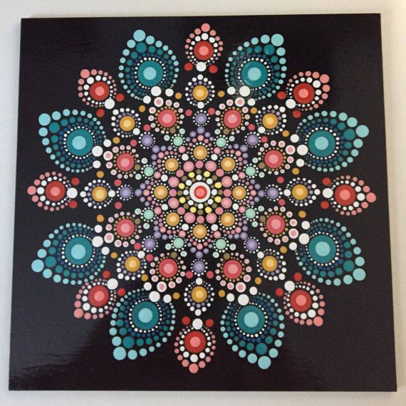 Hand Painted Mandala On An Artist Panel Meditation By