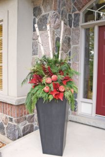 Outdoor Christmas Planter-perfect Zinc Planters