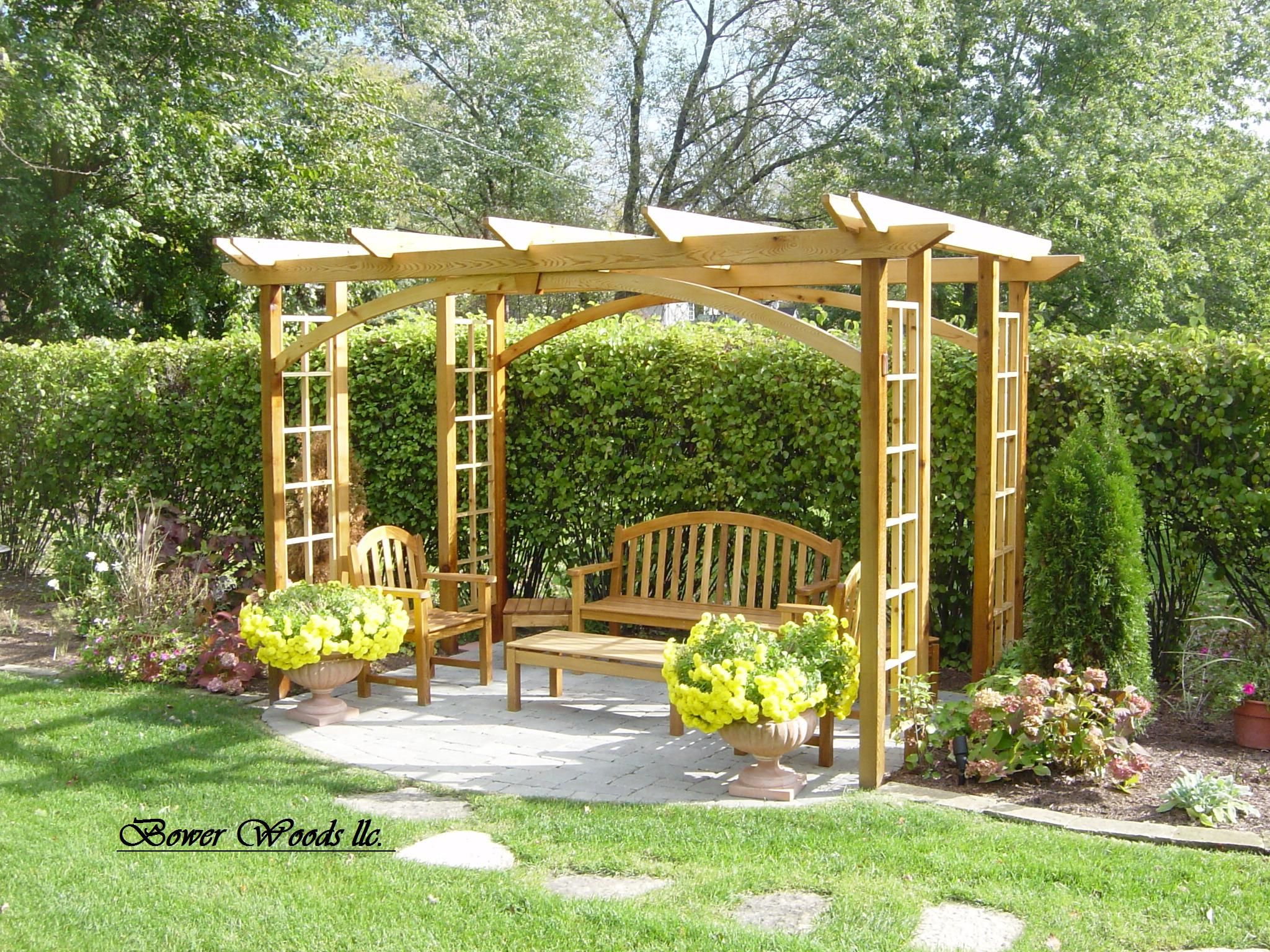Construire Une Pergola Gardens Designs And Craftsman