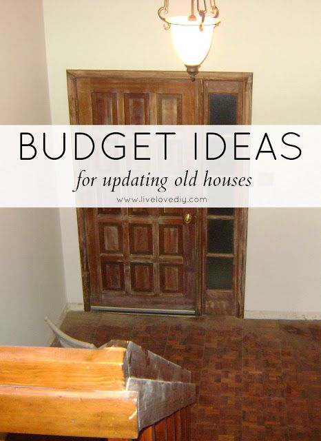 Budget Ideas For Updating Old Houses! An Entire 1970's House