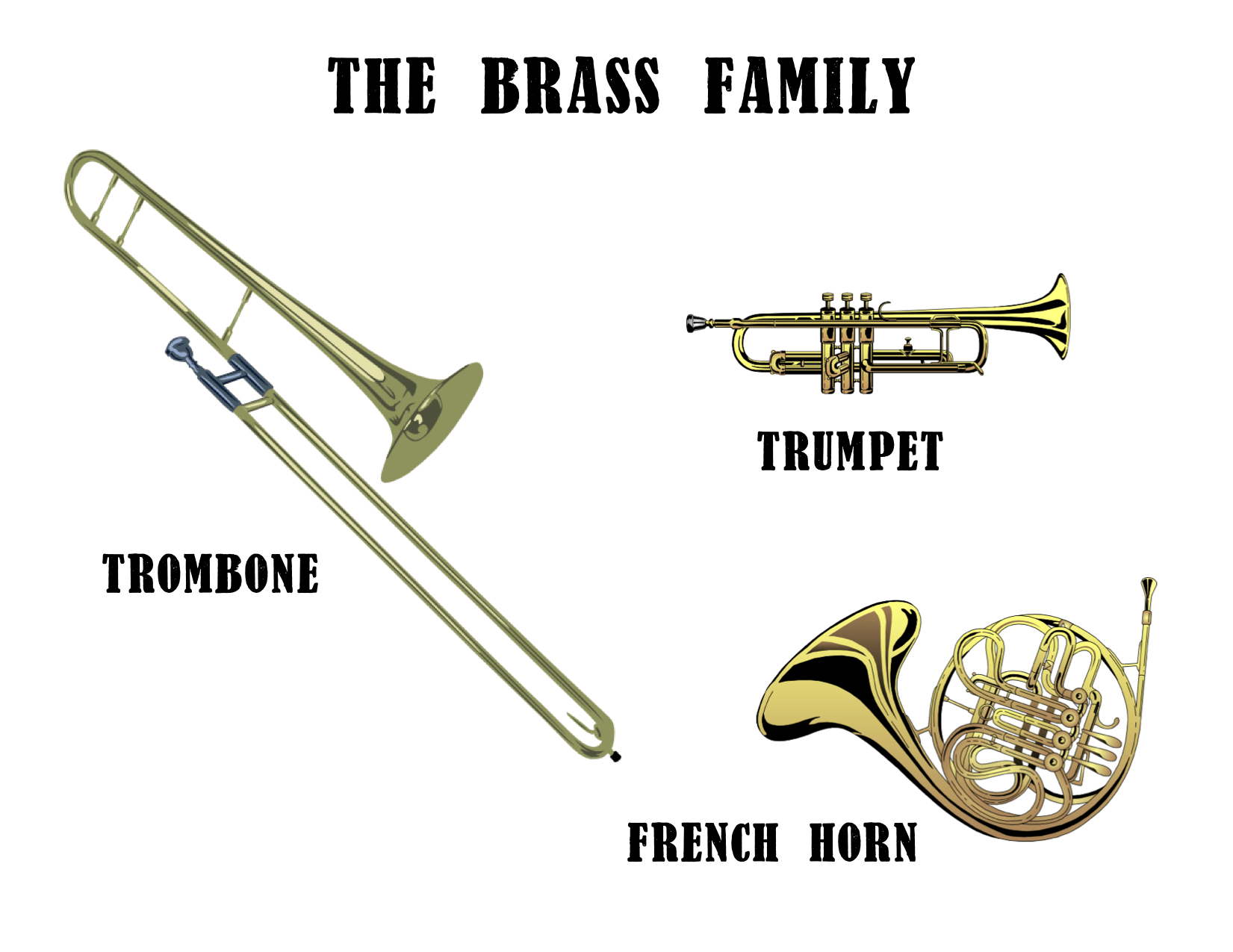 The Brass Family To play a brass instrument you need to