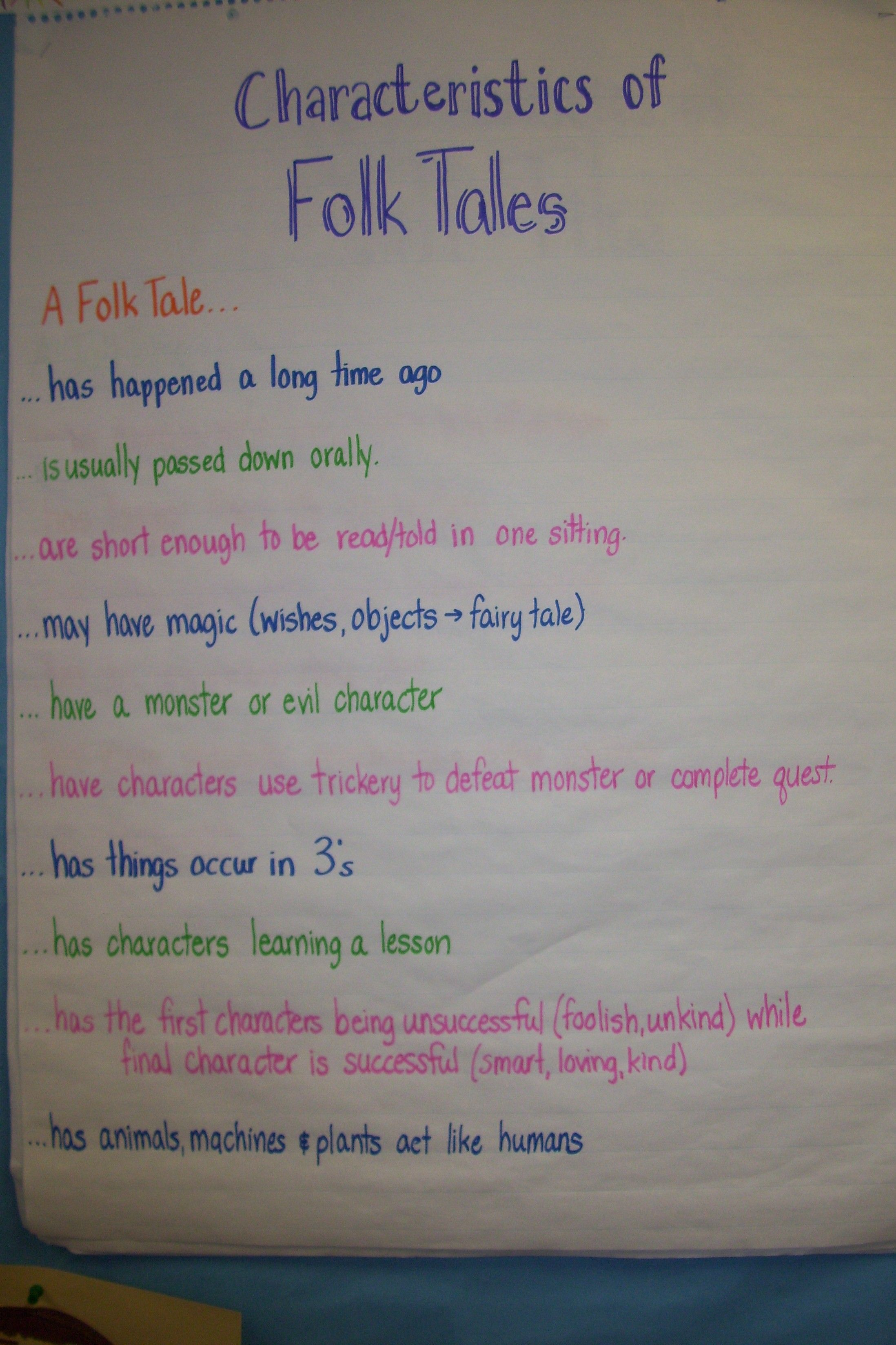 Genre Characteristics Worksheet