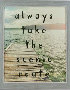 Enchante scenic route wall art liked on polyvore featuring home inspirational also rh pinterest