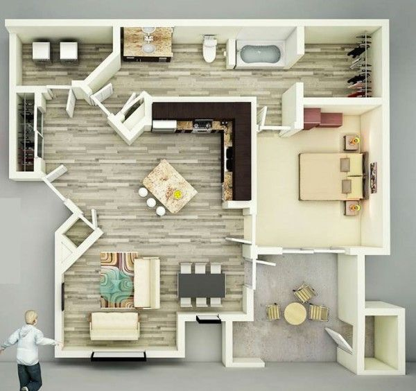 25 One Bedroom House Apartment Plans 19 This Spacious One Bedroom