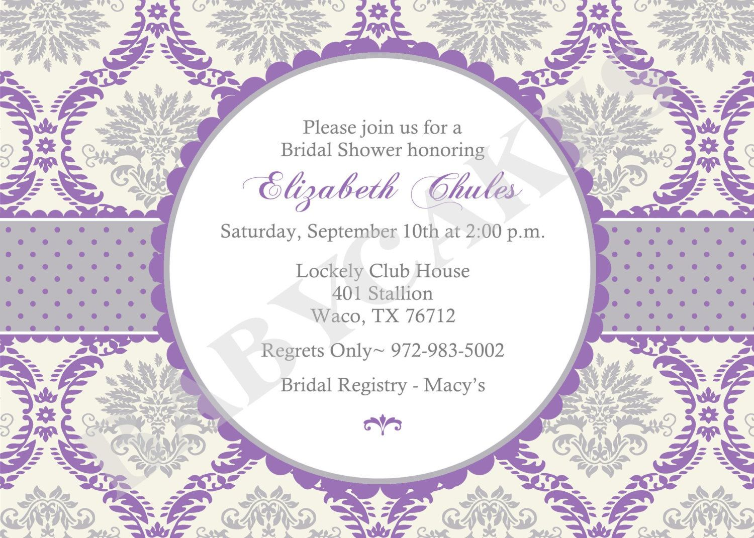 Print Your Own Wedding Shower Invitations