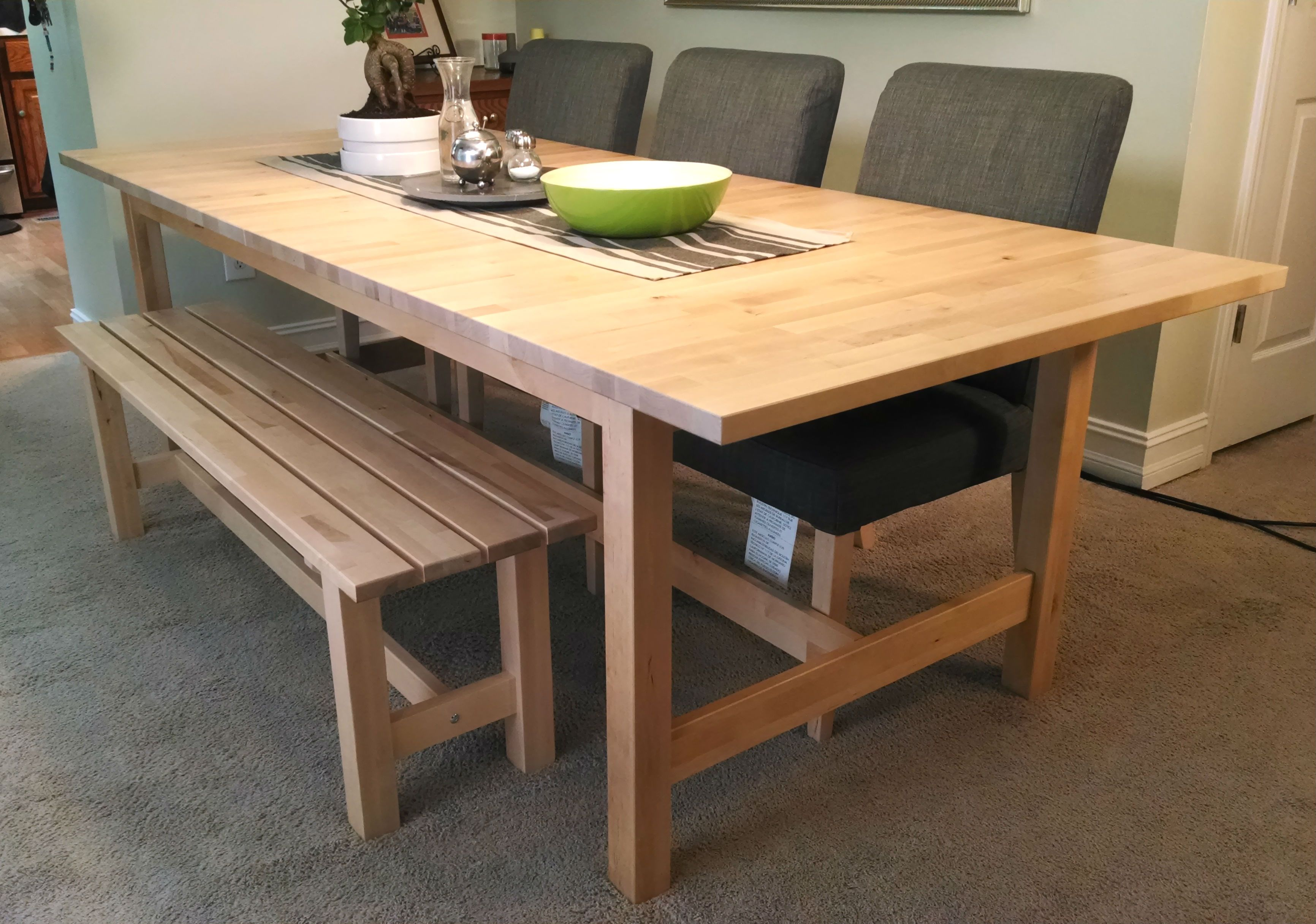 If space is tight around your dining table a bench might be a good fit The NORDEN bench is a