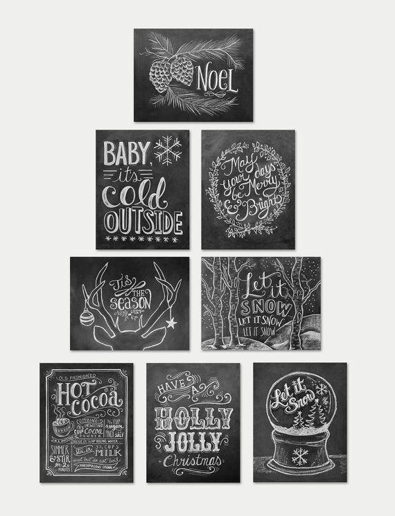 Verschiedene Weihnachtskarten Tafel Karten Weihnachten