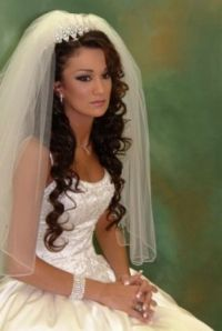 20 Wedding Hairstyles with Tiara Ideas   Curly wedding ...